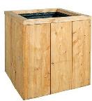 Bloembak lariks-steigerhout 60x60x60 - FSC