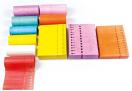 Doorsteeketiket - EDV tyveketik. 2,54 x 22 cm wit/1000 st per rol