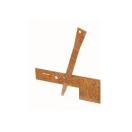 Gazonafboording COL-MET verankeringspennen 40,6cm - Corten