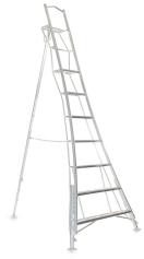Ladder Vultur (Henchmann) driepunts, aluminium met platform, verstelbaar 360cm