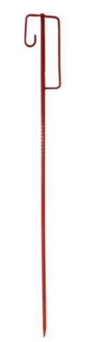 Piket voor werfnet hoogte 125 cm rood