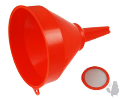 Trechter plastic met filter dia 145 mm