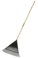 Freund kunststof gazonhark 22 tanden - 55 cm breed - steel 140 cm