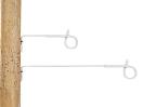 Afstandisolator krulstaart wit 17,5cm (10 stuks)