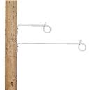 Afstandisolator krulstaart wit 40cm (10 stuks)
