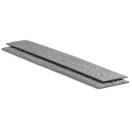 Gazonafboording Ecolat grijs 19cm H x 1 x 2m L