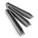 Gazonafboording Ecopin 4 x 4 x 38 cm H-profiel