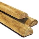 Houten paal gefreesd halfrond geïmpregneerd 250 cm x 7