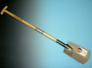 Spade Ideal, type 1006  nr.1,  met Opstap, met T-steel, gepolijst blad