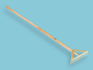 Asfalthark Offner versterkt, met 14 tanden, met steel 170 cm