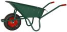 Kruiwagen 90 L groen gelakt 1.3 mm - met metalen velg