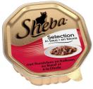 Sheba mini filets rund & kalkoen is saus 85g