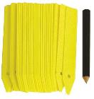 Nature Plantetiketten met potlood -  25 stuks - 10cm