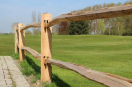 Post & Rail Classic - half rond - 2X2 gaten - L=200cm (robinia)