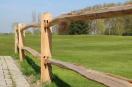 Post & Rail Classic - rond - 2X2 gaten - 90° - L=200cm (robinia)