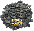 Siergrind Beach Pebbles zwart  5/8 mm afgehaald (BB)