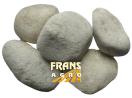 Sierkeien Carrara rond 40/60 mm afgehaald (BB)