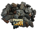 Sierkeien Canadian slate Metallic roestbruin/blw/grijs 10/30 mm afgehaald (BB)