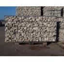 Gevulde steenkorf 200x48x50 cm LxBxH - wit/beige