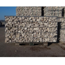 Gevulde steenkorf 100x48x100 cm LxBxH - wit/beige