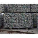 Gevulde steenkorf 100x48x100 cm LxBxH - grijs
