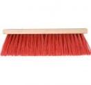 Bezem rood 41 cm z/ steel