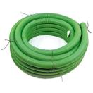 Boombeluchtingsbuis PVC-groen, 8cm dia, 30m lengte